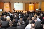 Rund 300 Teilnehmer informierten sich im Plenum des 15. Cubeware Infotages über Strategie und Produktentwicklungen.