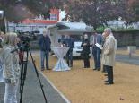 Eröffnung der neuen Wohnmobilstellplätze Pirmasens durch Oberbürgermeister Dr. Bernhard Mattheis (rechts) Foto: Stadtverwaltung Pirmasens / Dunja Maurer