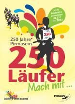Plakat Jubiläumslauf 250 Jahre Pirmasens