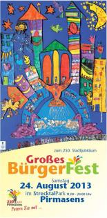 Plakat Bürgerfest 250 Jahre Pirmasens