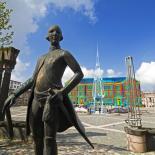 Animierte thermographische Aufnahme Rathaus Pirmasens mit Denkmal des Landgrafen