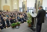 Impression der Einweihungsveranstaltung  am 21. Januar 2014 – Eröffnungsrede von Dr. Bernhard Matheis, Oberbürgermeister von Pirmasens  (Foto: Rüdiger Buchholz)