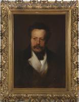 Franz von Lenbach, Porträt Heinrich Bürkel, Öl auf Leinwand, um 1860 – (Copyright: Stadt Pirmasens, Foto: Martin Seebald)