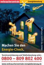 Flyer Energie-Check / Verbraucherzentrale Rheinland-Pfalz