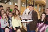 Der 666666. Besucher im Dynamikum: Besuchergruppe vom Jugendrotkreuz Prüm
