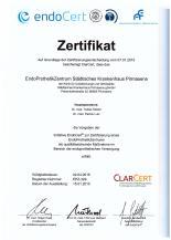 EndoCert-Zertifikat Städtisches Krankenhaus Pirmasens