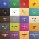 Farbpalette der Liege Smart ST