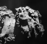 Ansicht des Kometen 67P (Tschurjumov-Gerassimenko), aufgenommen am 9.11.2014