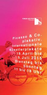 """Flyeransicht zur Sonderausstellung """"Picasso & Co. plakativ. Internationale Künstlerplakate"""""""