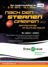 """Ausstellungsplakat """"Nach den Sternen greifen – Astronomie im Dunkelraum"""""""