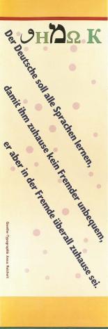 Josua-Reichert-Typografie Zitat J.W.v. Goethe