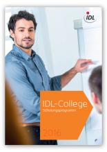 Cover IDL-College Schulungsprogramm 2016