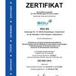 TÜV-Zertifizierung für SOU AG bestätigt hohe Prozessqualität<br /><h5>SOU | Pressemeldung vom 11. Mai 2017</h5>
