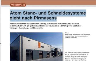 Atom Stanz- und Schneidesysteme: Umzug nach Pirmasens