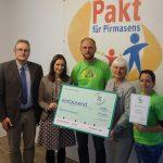 Pakt für Pirmasens erhält DEICHMANN-Förderpreis für Integration<br /><h5>Stadt Pirmasens | Pressemeldung vom 13. Sep. 2017 </h5>