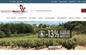 Viel Neues im WASGAU WeinShop